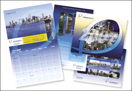 Calendar Design for Parkeon by Dynamic Digital Advertising