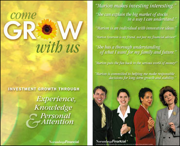 Poster design for Norumbega Financial
