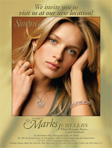 trade ad design for Marks Jewelers