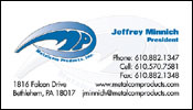 Professional Business Card Design for Metalcom Products