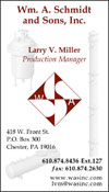 Professional Business Card Design for Wm. A Schmidt and Sons, Inc.