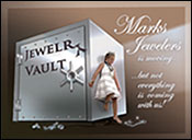 Direct Mail Invitation for Marks Jewelers